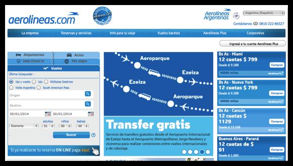 DropShadow ~ Aerolineas Argentinas