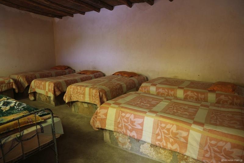 ホステルの寝室