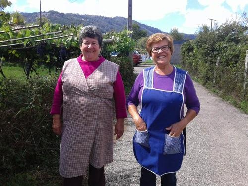 スペイン巡礼中に出会ったぶどう農園のおばさま