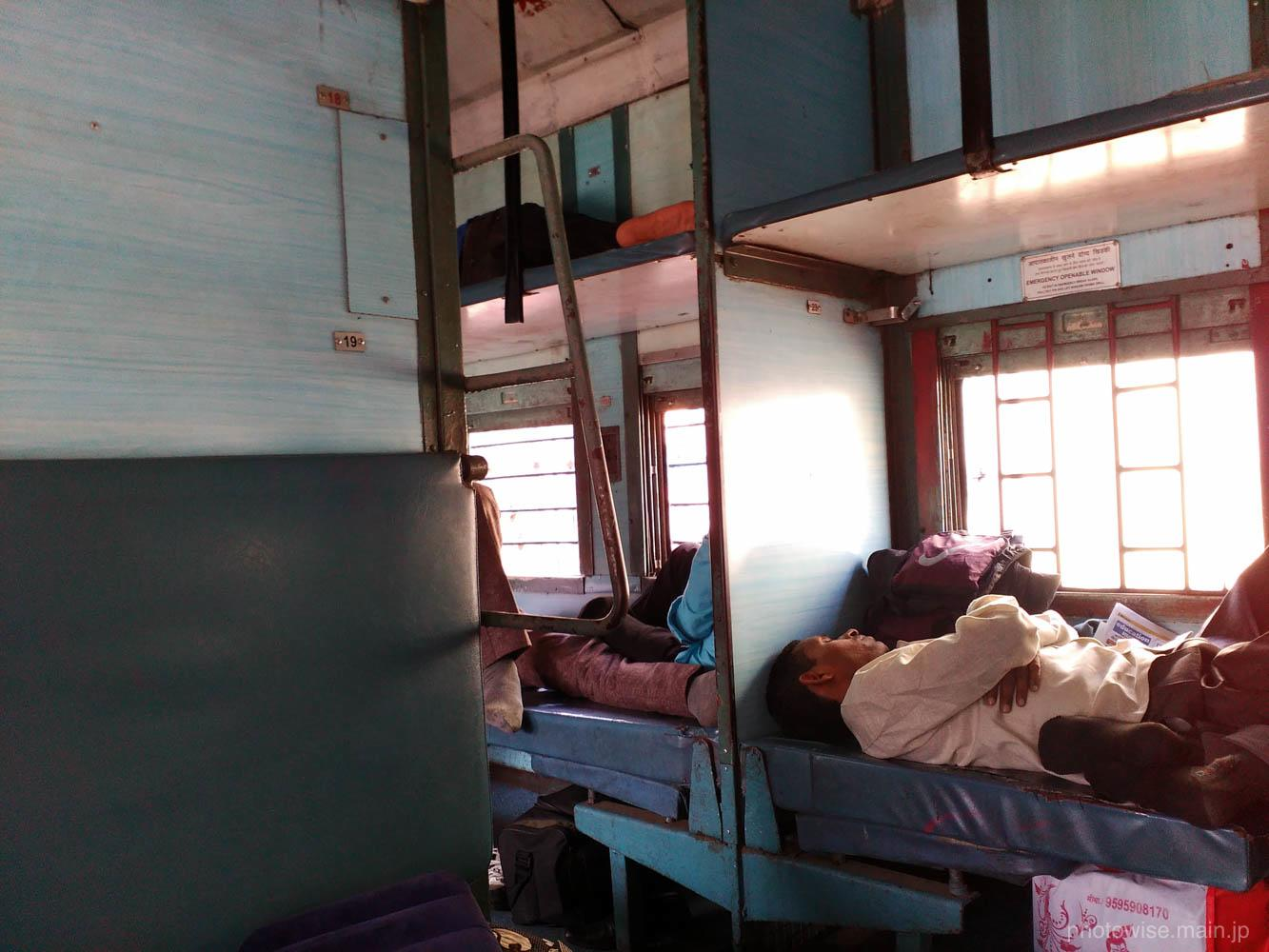 インドの寝台列車