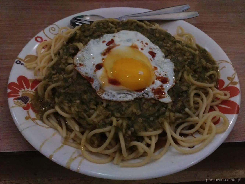 おくらスパゲティinサンタナ・ゲストハウス