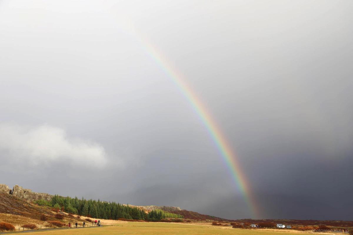 シンクヴェトリル国立公園で見た虹