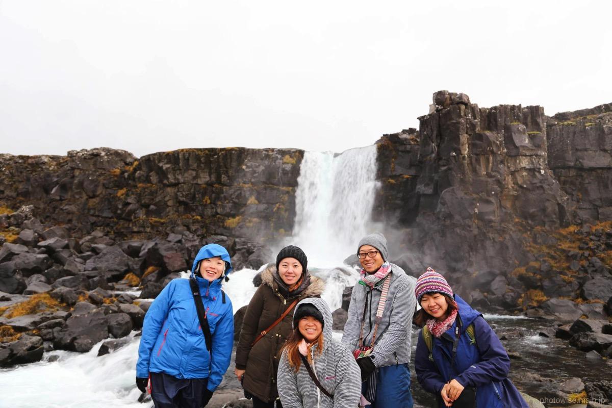 シンクヴェトリル国立公園で記念撮影