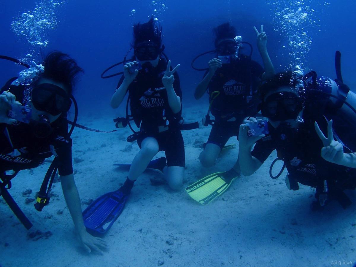 タオ島でスキューバダイビング