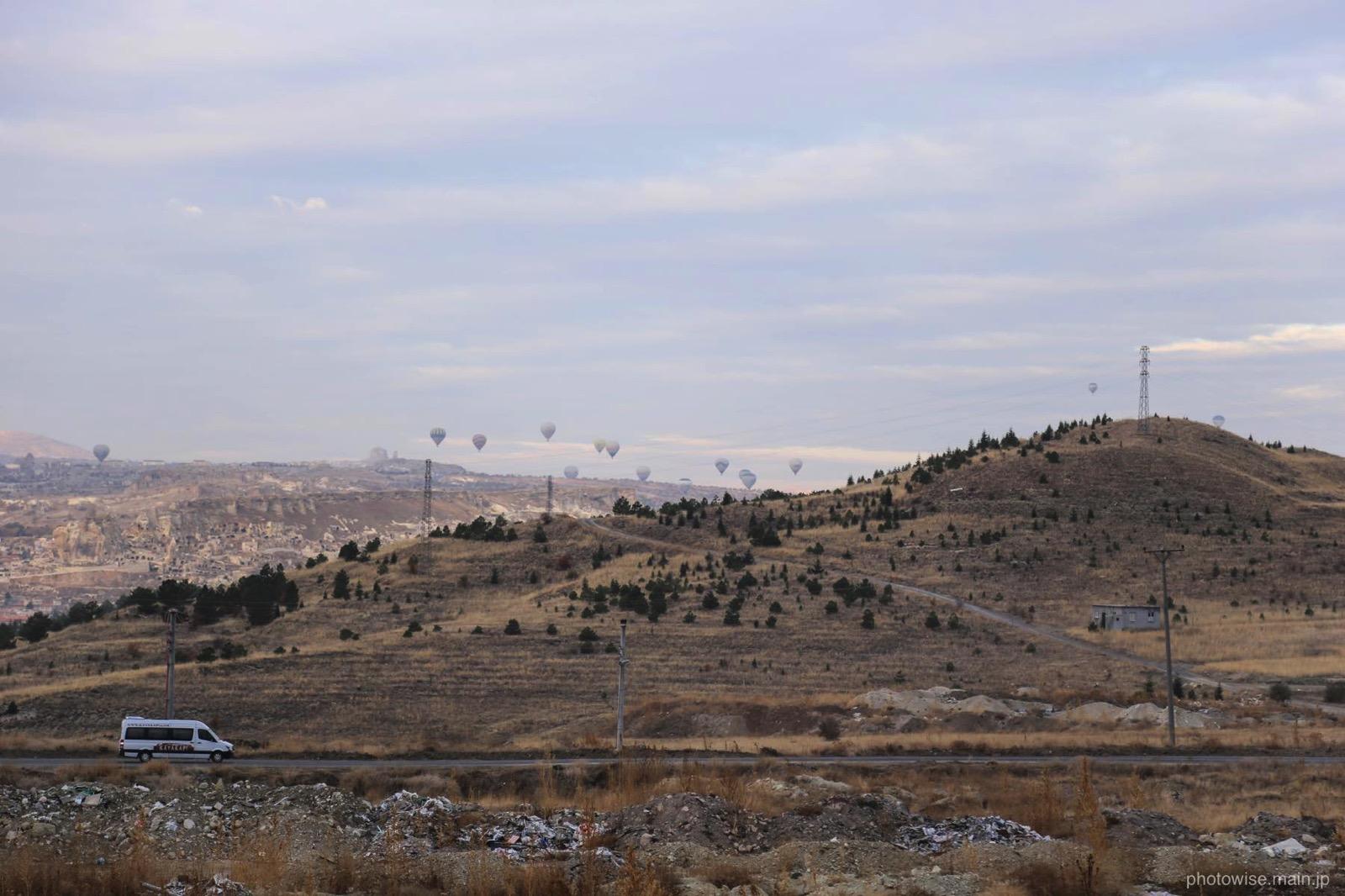 ウルギュップから見た気球