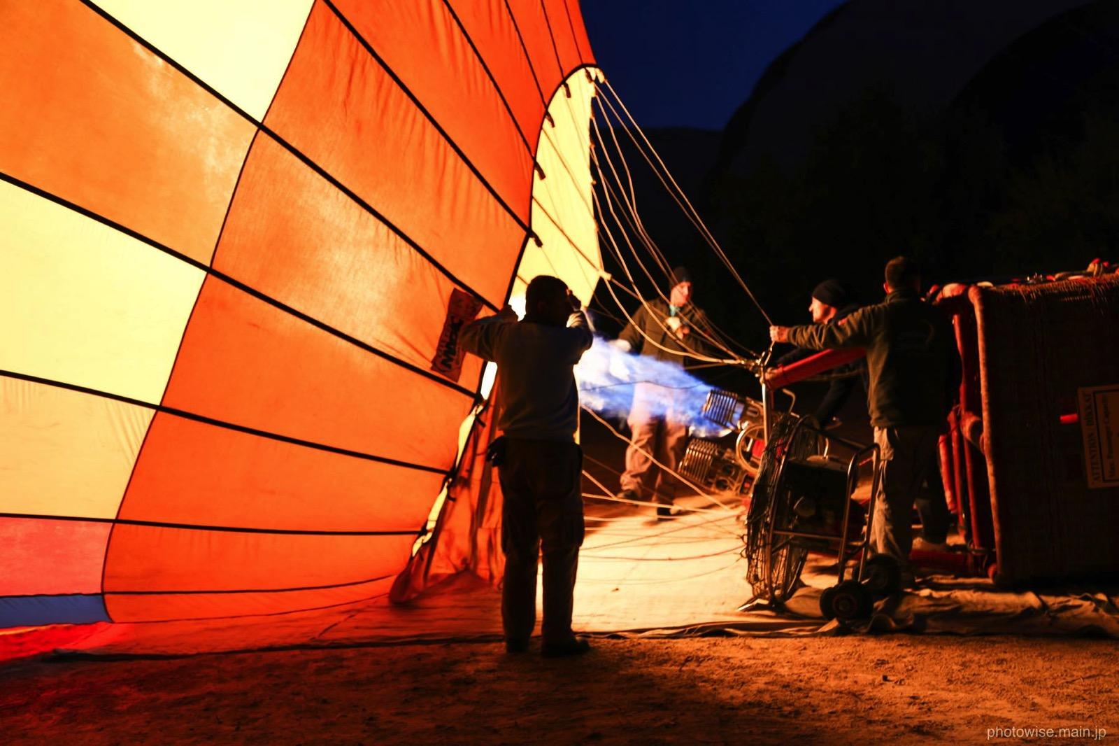 気球の準備