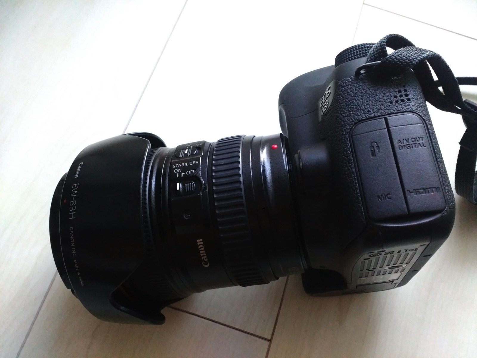 修理後のカメラとレンズ