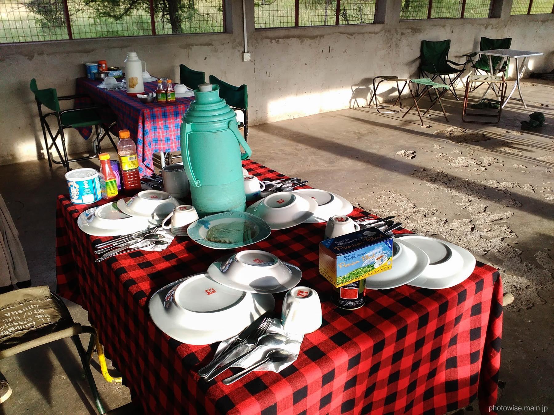 3日目の食事スペース