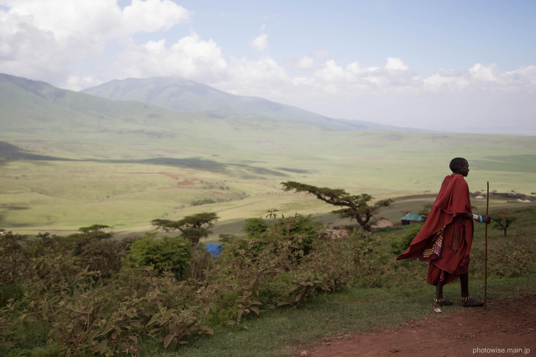 ンゴロンゴロのマサイ族