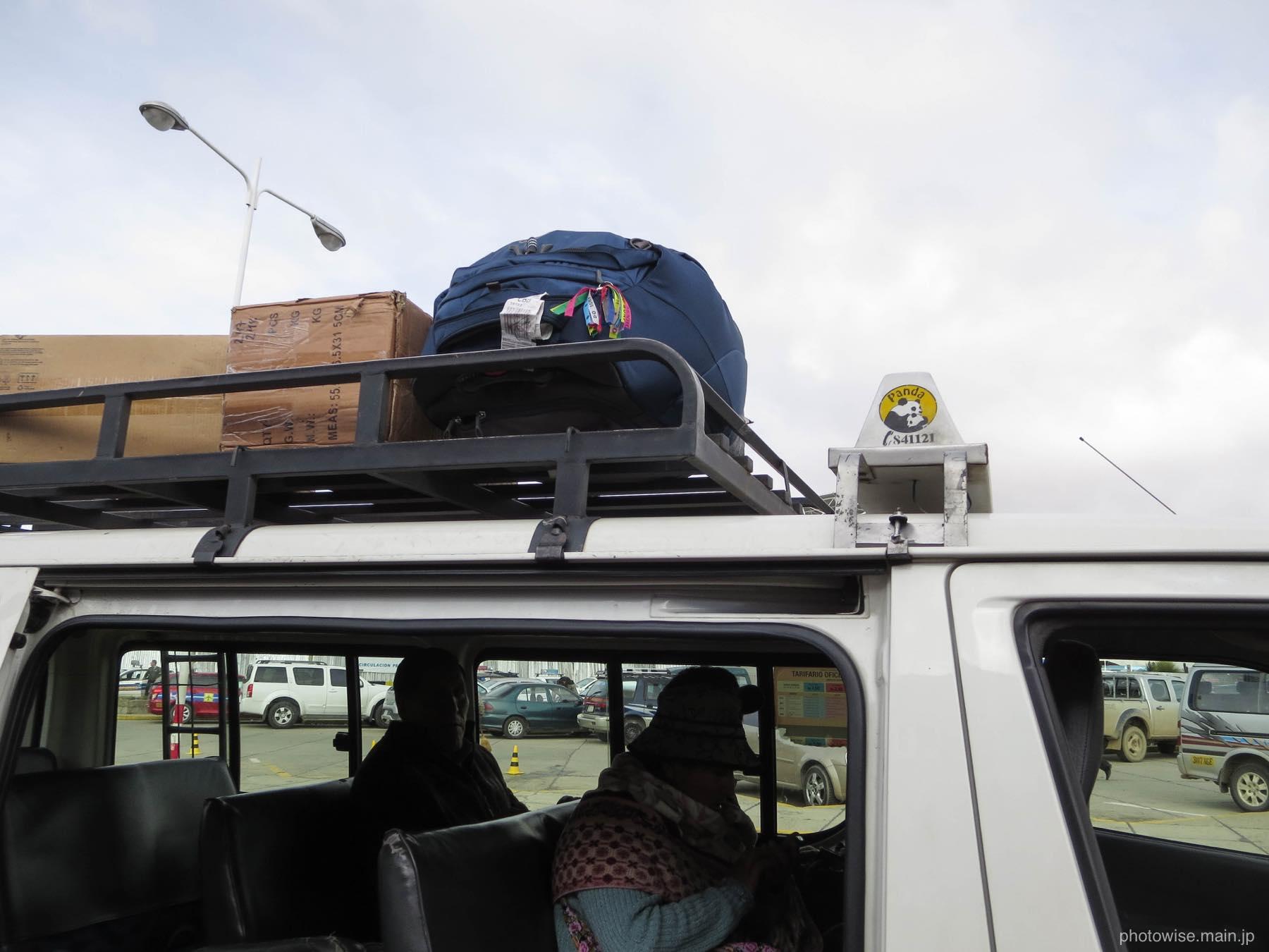 荷物は荷台へ