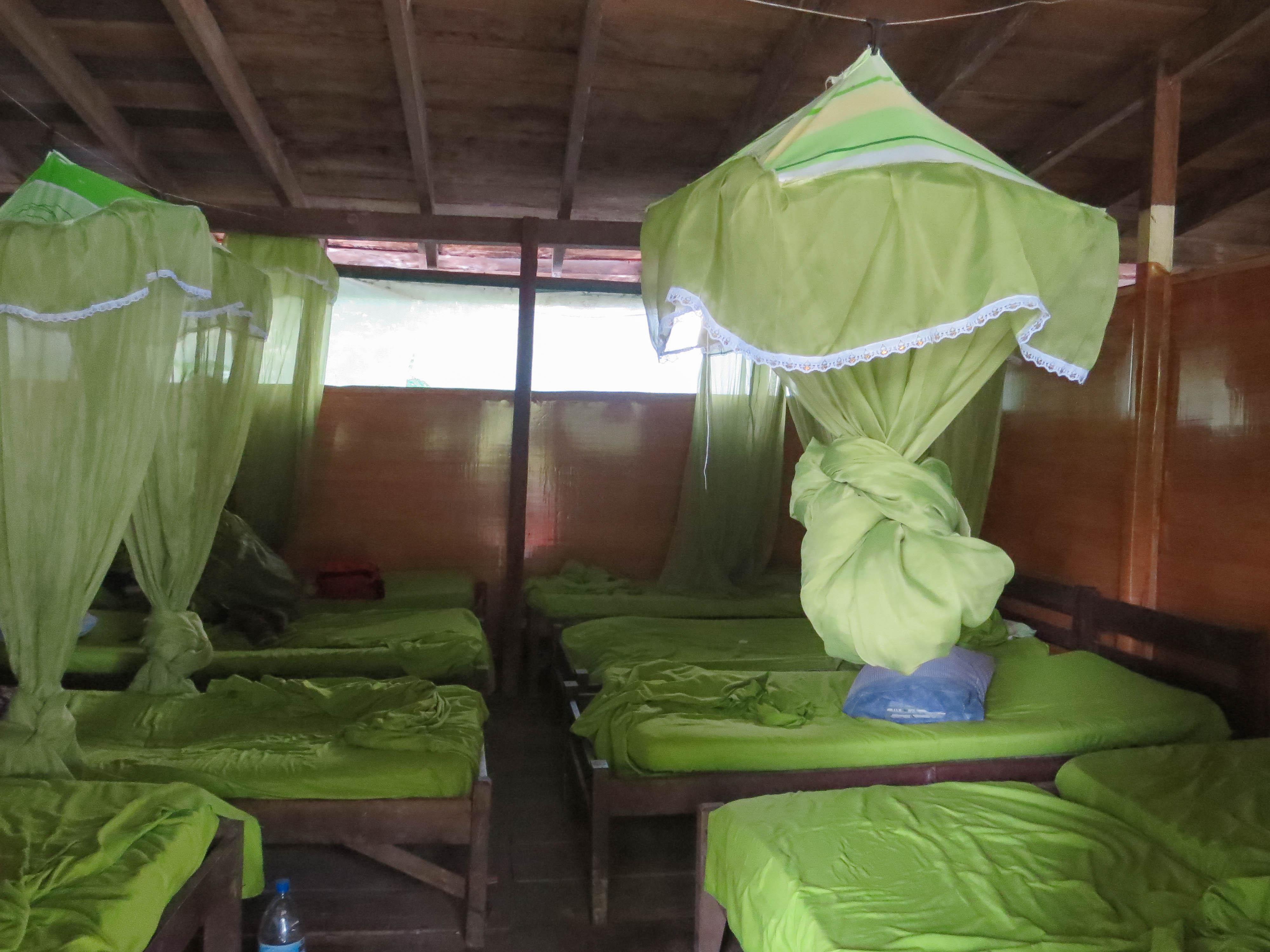 蚊帳つきのドミ