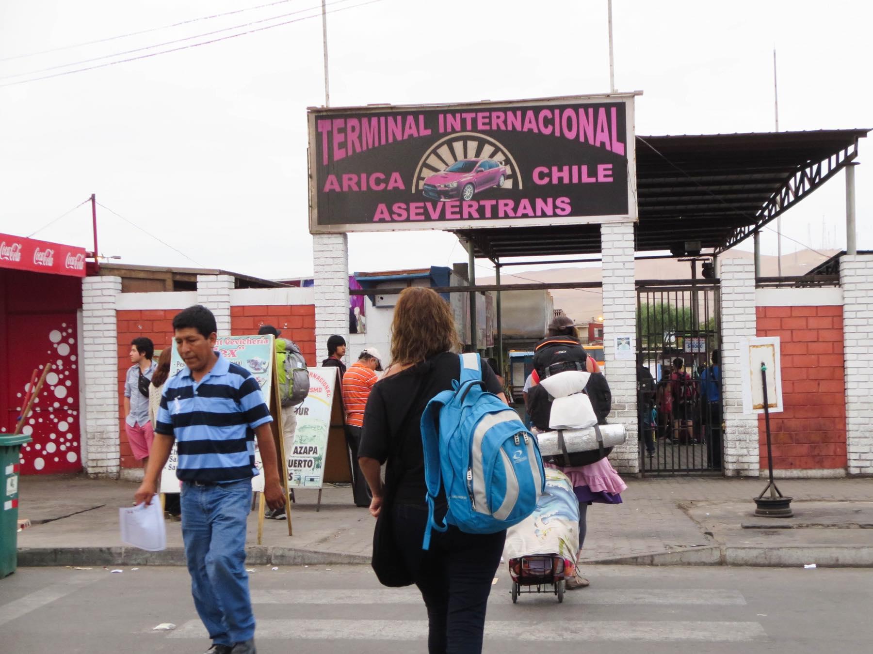 アリカの国際バスターミナル