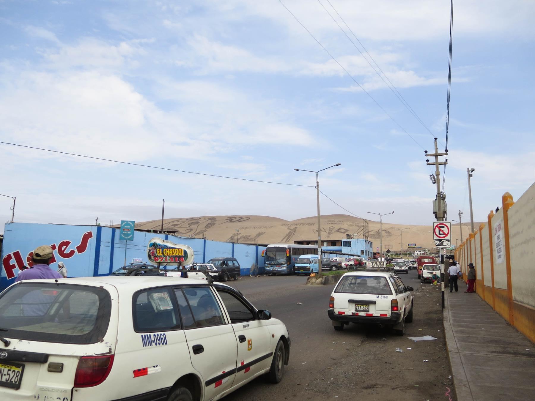 タクナのバスターミナル周辺