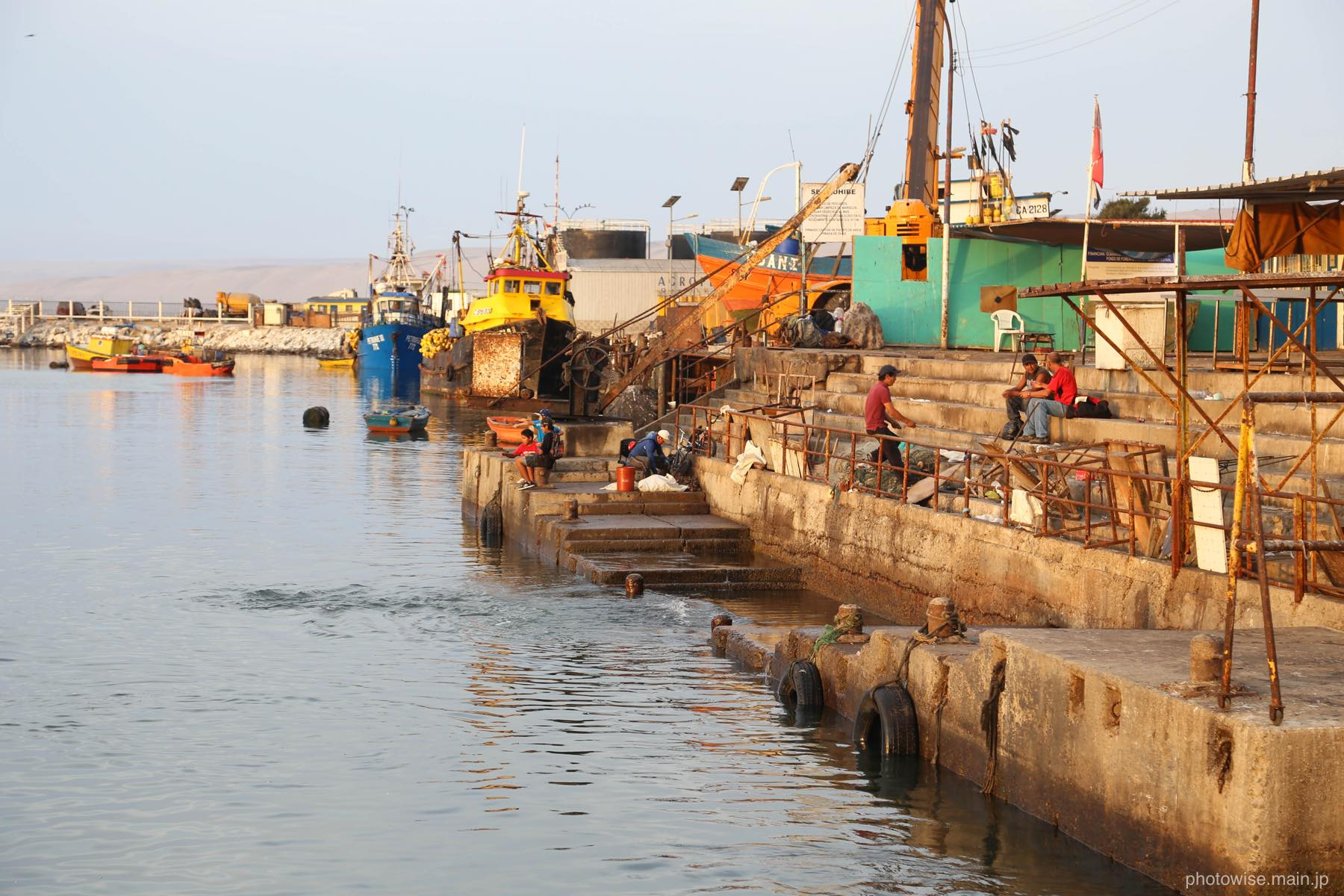 アリカの漁港