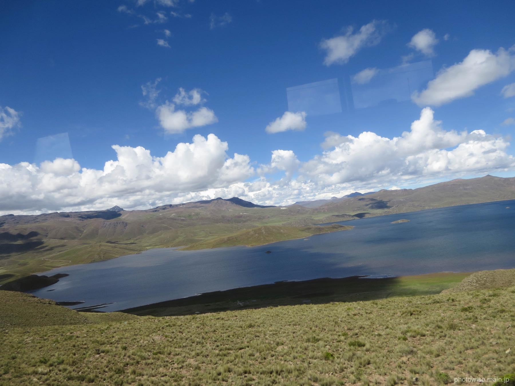 途中にあった湖