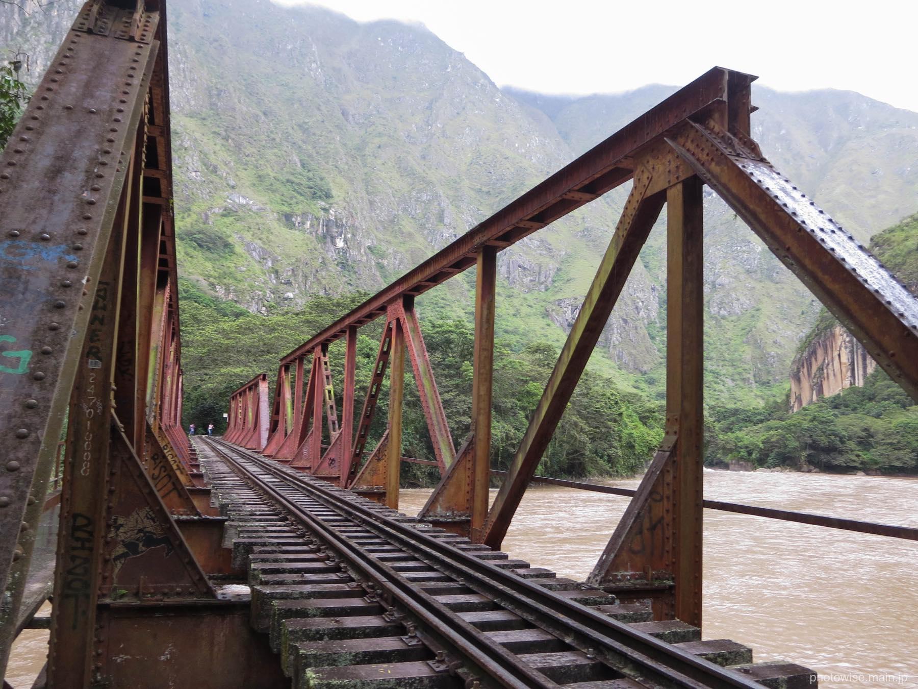 鉄橋を超える