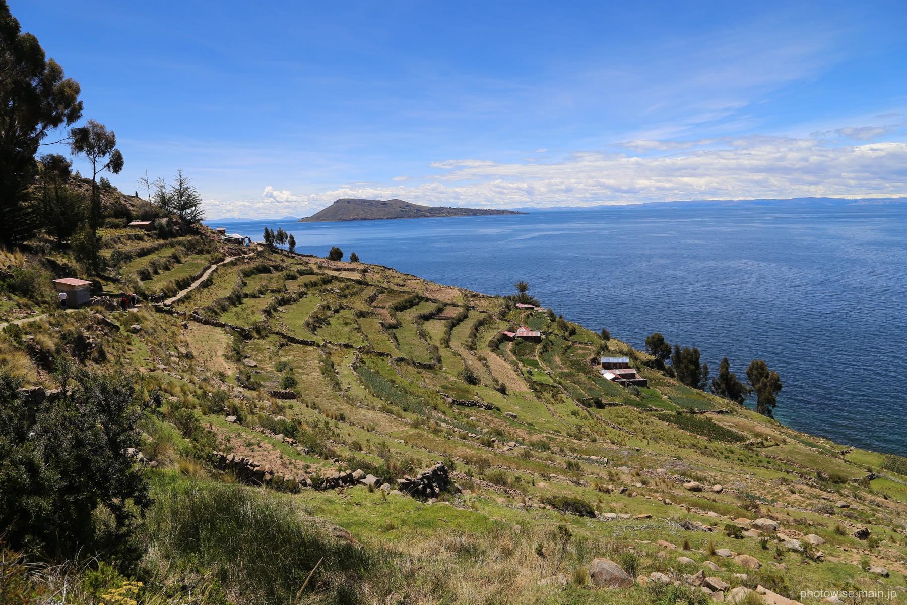 タキーレ島の段々畑