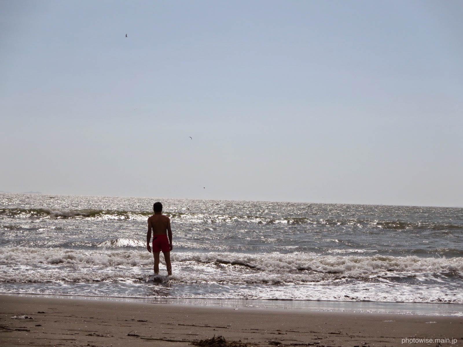 ピスコの海岸にて