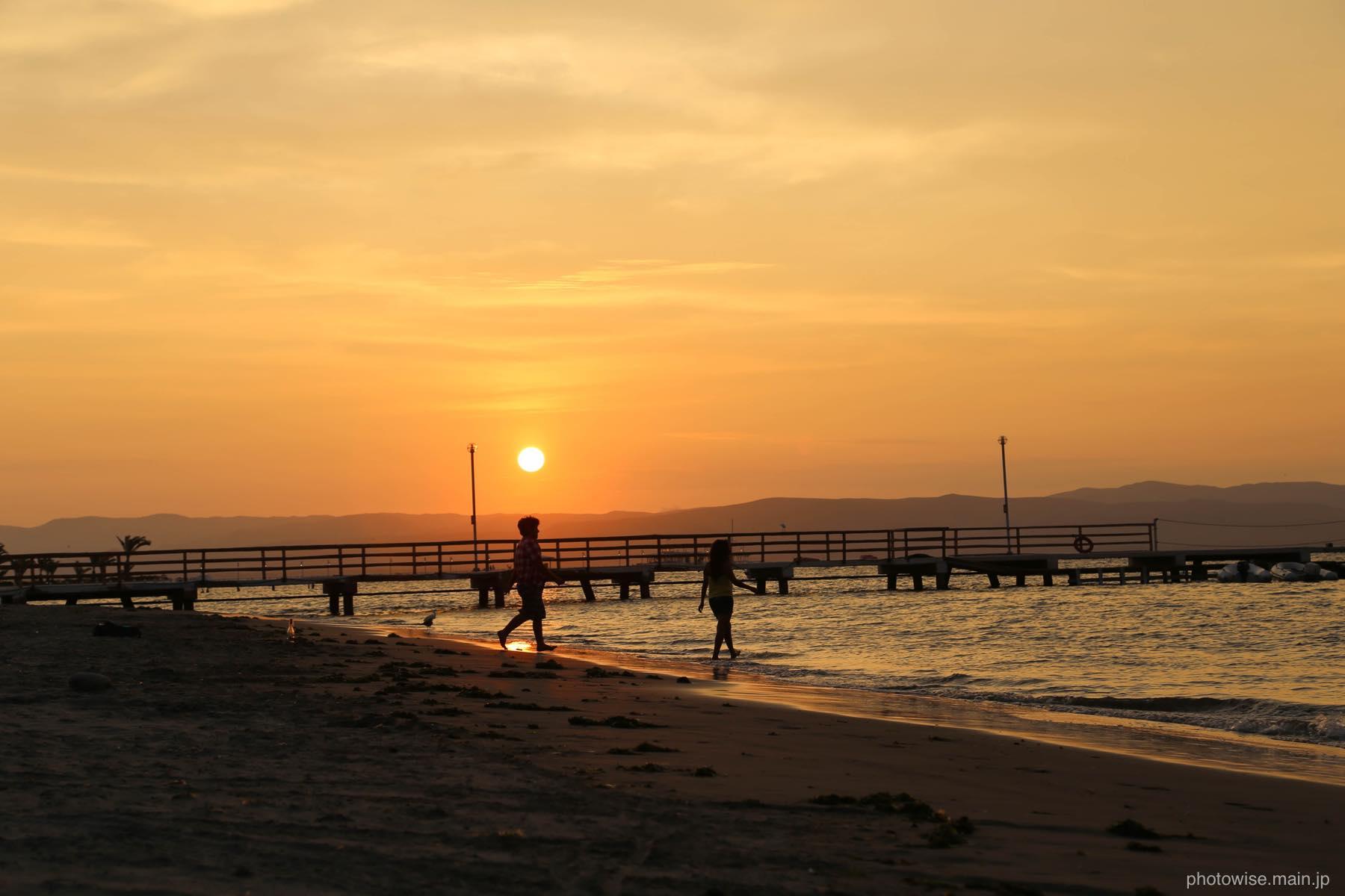 パラカスの夕日