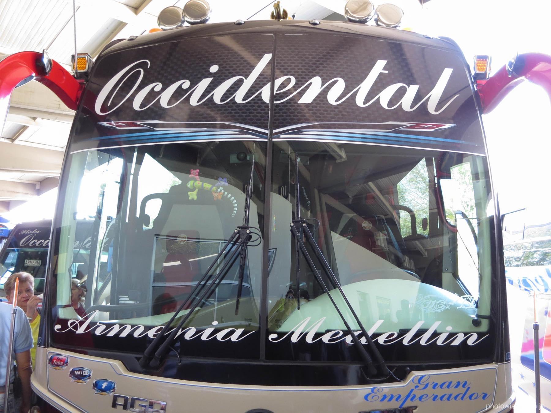 メデジン行きのバス