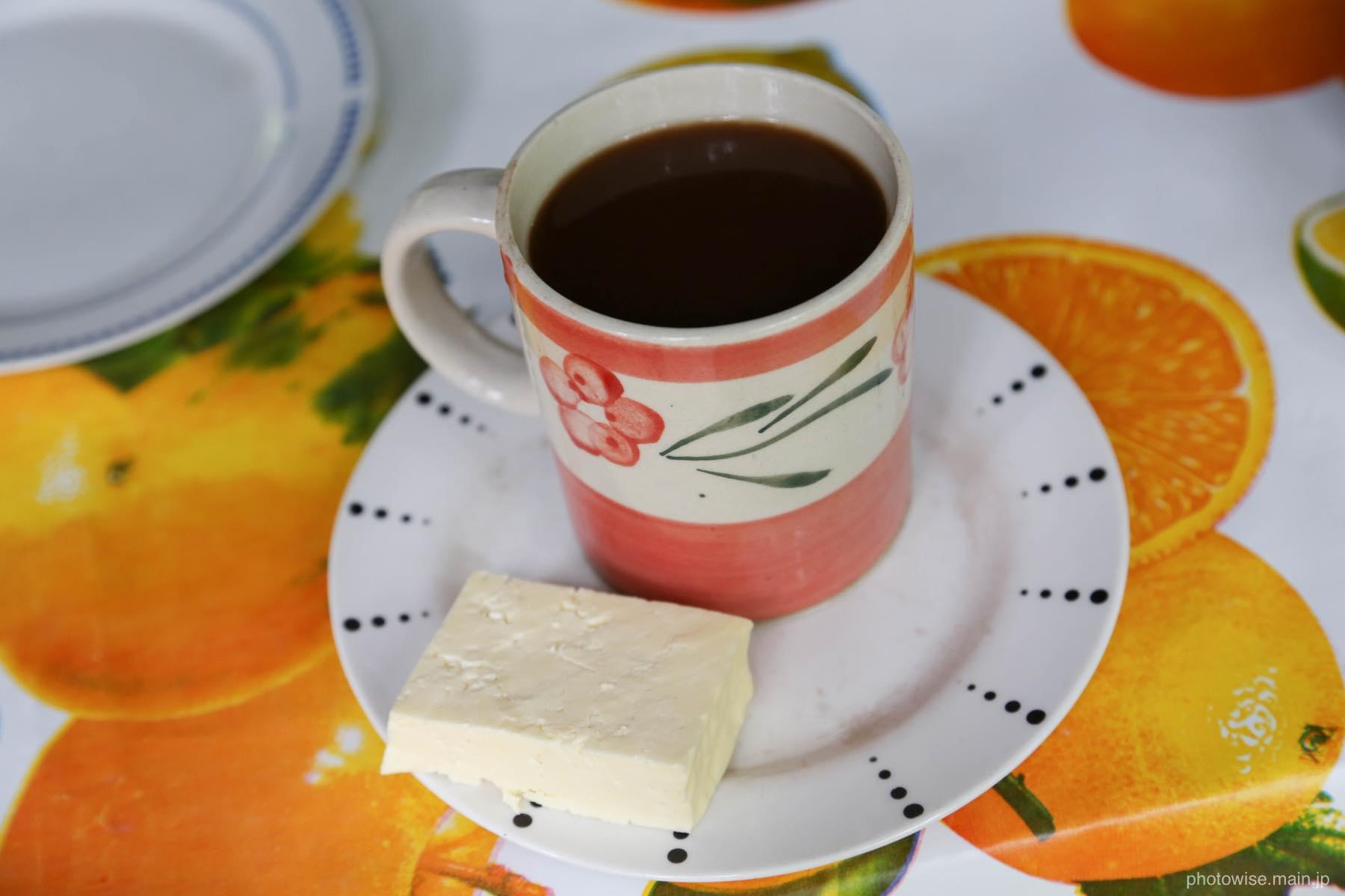 ホットチョコレートとチーズ