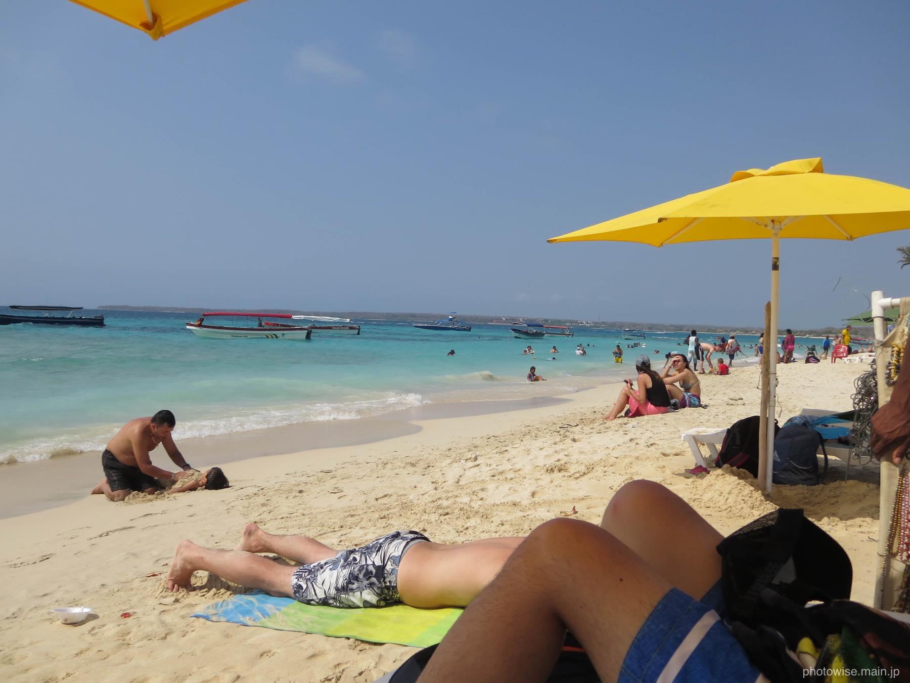 優雅なビーチでの午後
