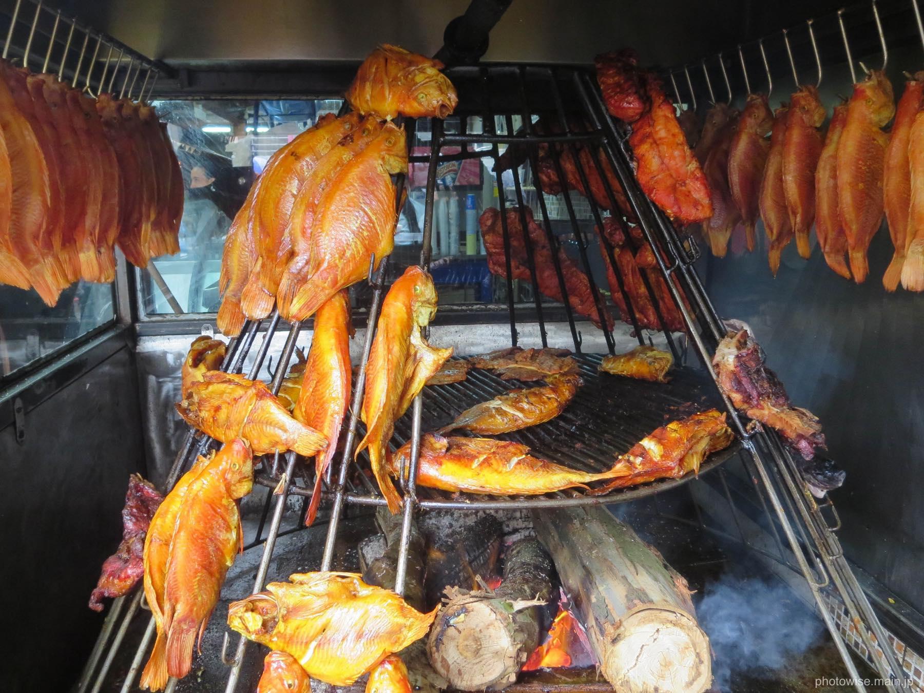 コロンビアのBBQ料理