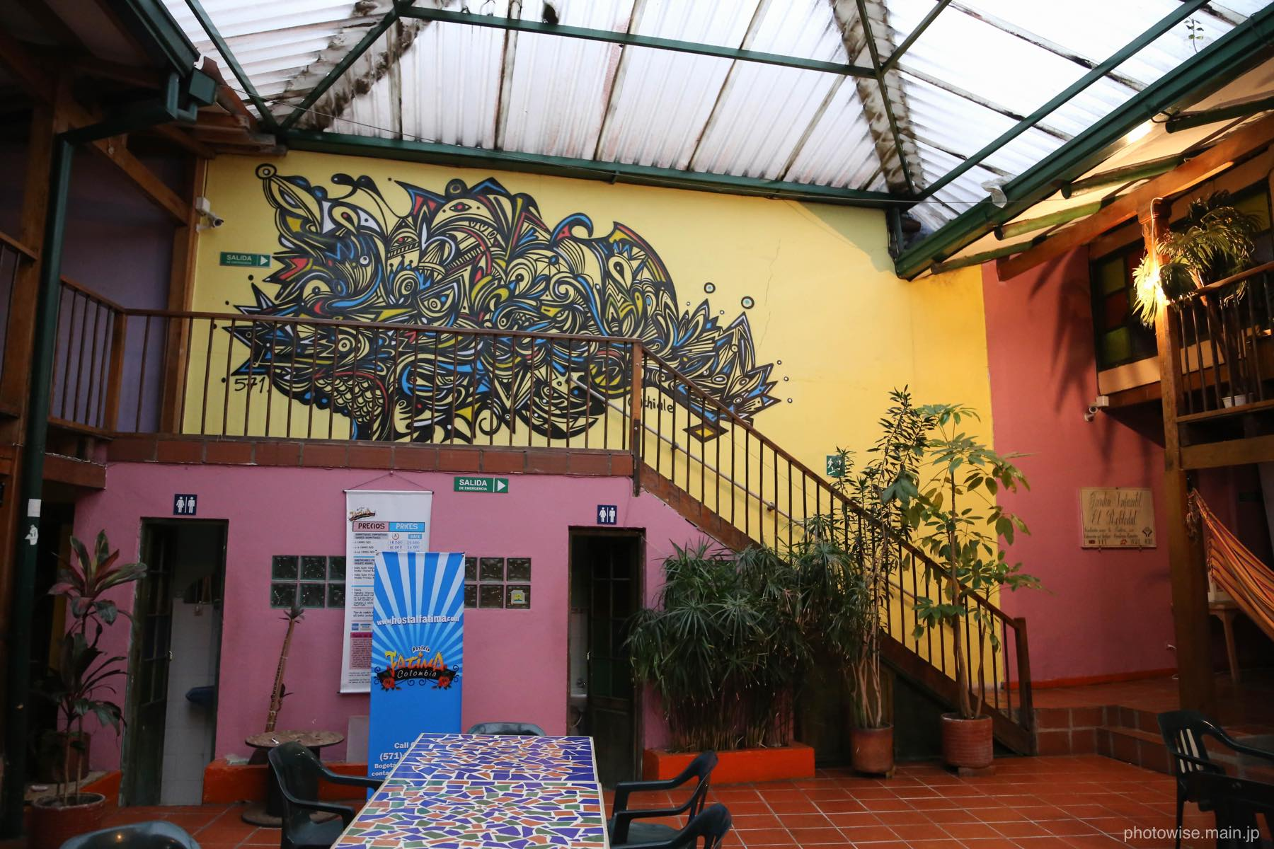 ボゴタ旧市街のホステル