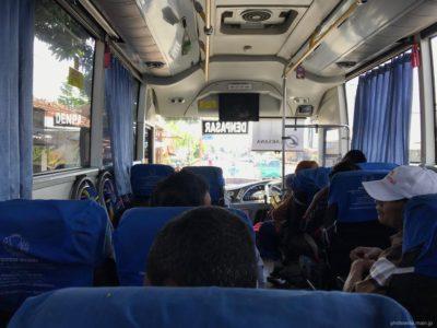 バリ島行きのフェリー付きバス