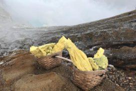硫黄の採掘