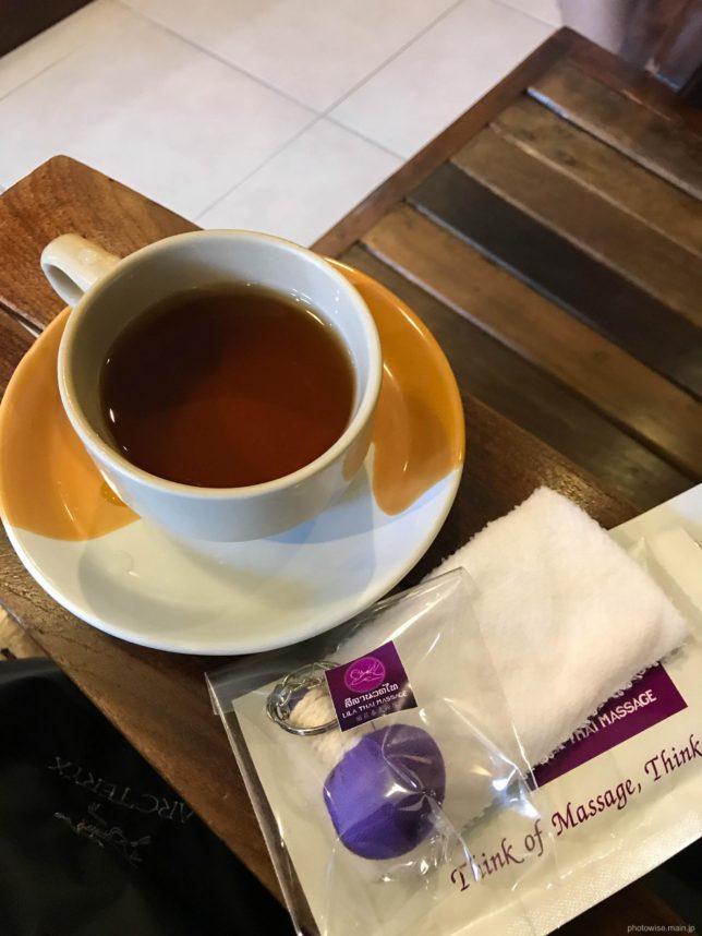 施術後のお茶