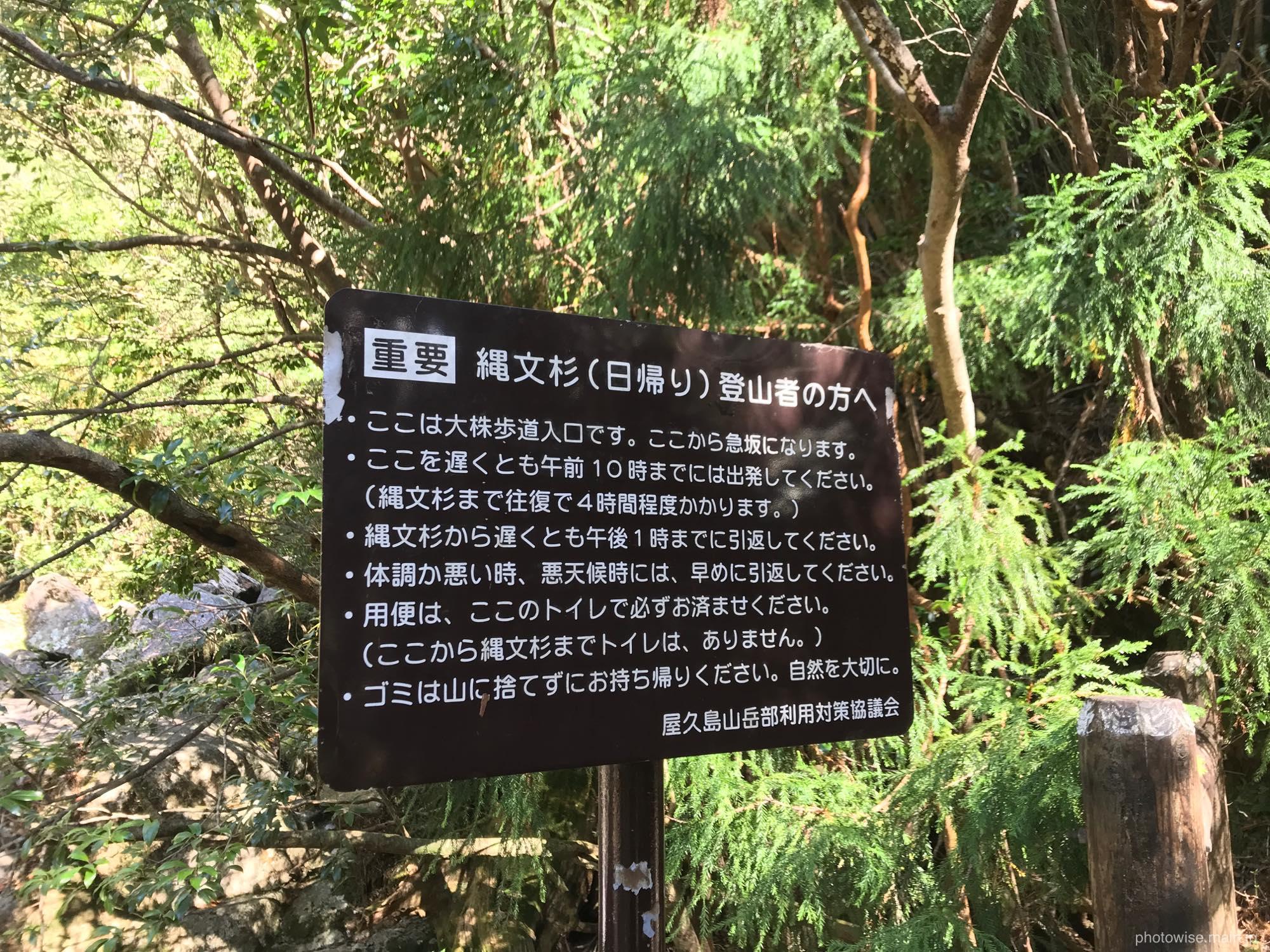 大株歩道への入口