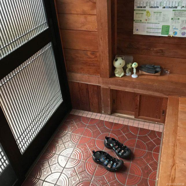 屋久杉の家の玄関