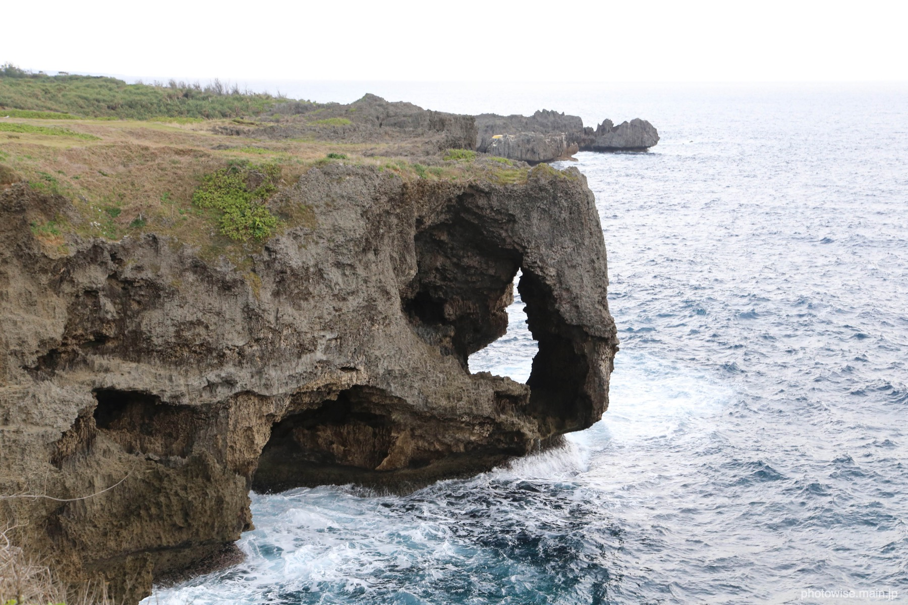 象に見える岩(万座毛)