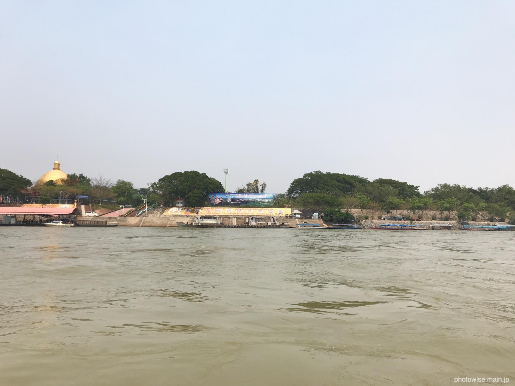 ラオス側の船着場
